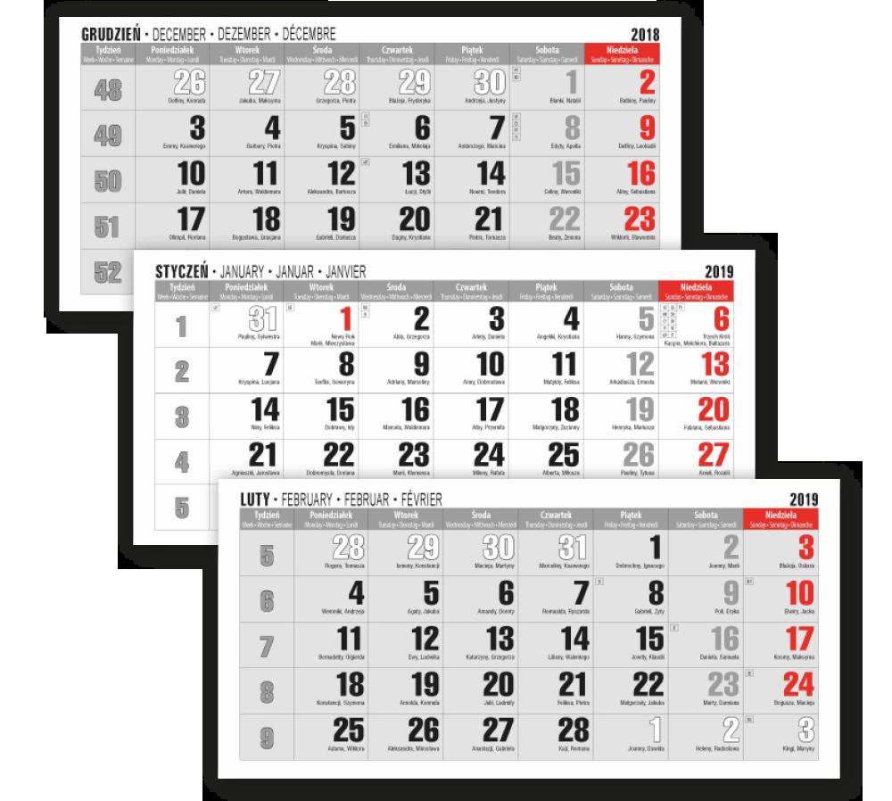 Kalendarium Trójdzielne Ze świętami Ue Kalendaria Ze świętami W